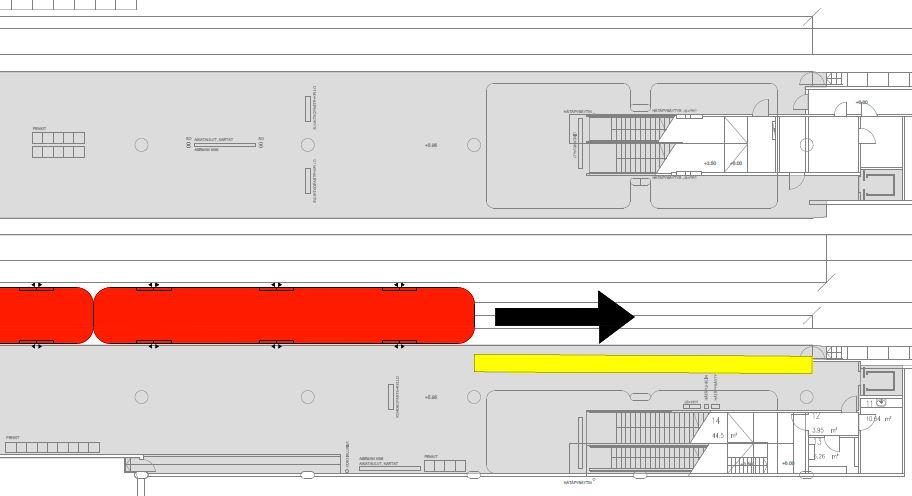 Metron uusi pysähtymispaikka on 20 metriä aiempaa lännempänä eli kauempana kauppakeskuksesta