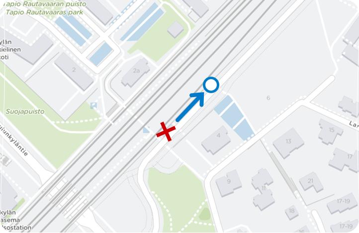 Kuvaus: Oulunkylän aseman pysäkki siirtyy kohti pohjoista